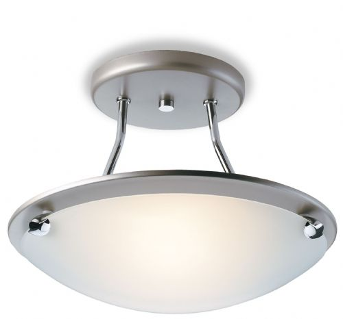 Firstlight S300SS Satin Steel Champagne Semi Flush Fitting